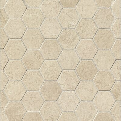 El Dorado 2 x 2 Porcelain Hexagon Mosaic Tile in Oyster