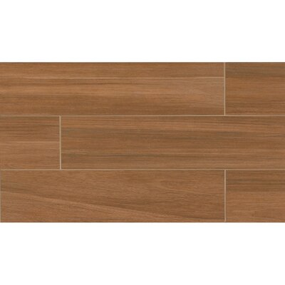 Austin 8 x 24 Porcelain Wood Tile in Fallen Leaf