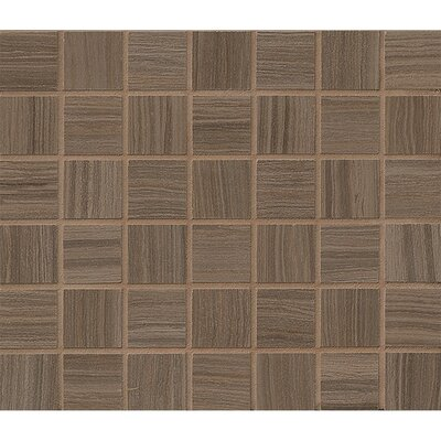 Rowe 1.5 x 1.5 Porcelain Mosaic Tile in Wenge