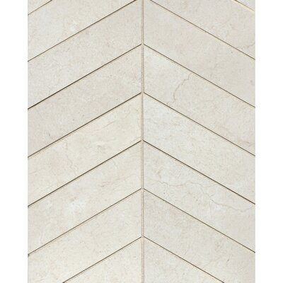 El Dorado Chevron 2 x 6 Porcelain Mosaic Tile in Shell