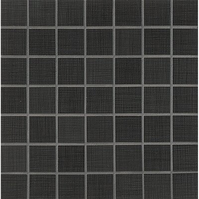 1.5 x 1.5 Porcelain Mosaic Tile in Charcoal Lappato
