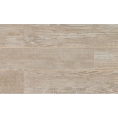 Hamptons 8 x 36 Porcelain Wood Tile in Gray Oak
