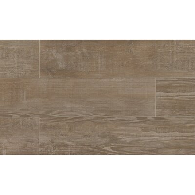 Hamptons 8 x 36 Porcelain Wood Tile in Taupe