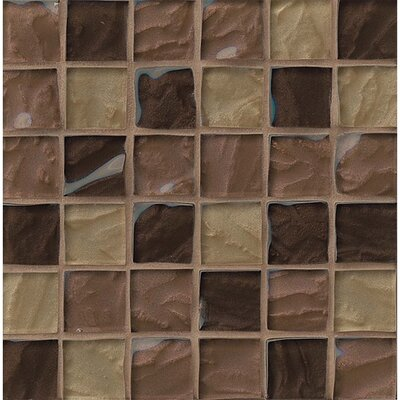 Priscilla 2 x 2 Glass Mosaic Tile in Beige