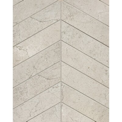 El Dorado Chevron 2 x 6 Porcelain Mosaic Tile in Rock