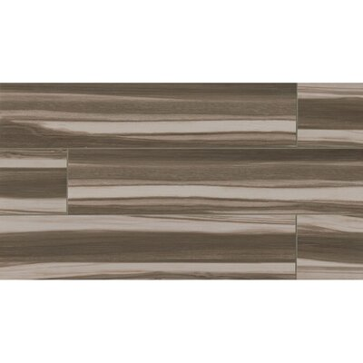 Nantucket 8 x 36 Porcelain Wood Tile in Coffee