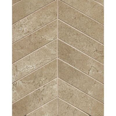 El Dorado Chevron 2 x 6 Porcelain Mosaic Tile in Starfish
