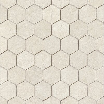 El Dorado 2 x 2 Porcelain Hexagon Mosaic Tile in Shell