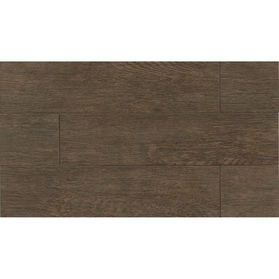8 x 24 Porcelain Wood Look/Field Tile in Brownstone
