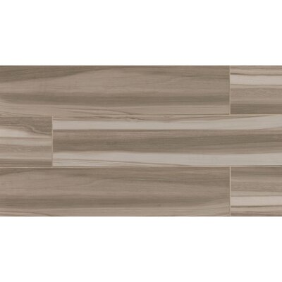 Nantucket 8 x 36 Porcelain Wood Tile in Taupe