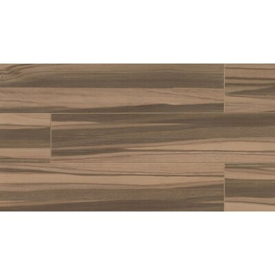 Nantucket 8 x 36 Porcelain Wood Tile in Caramel