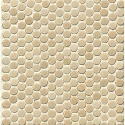 Penny Round Mosaic 12 x 12 Porcelain Tile in Natural