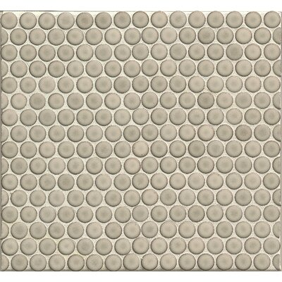Penny Round .75 x .75 Porcelain Mosaic Tile in Light Gray