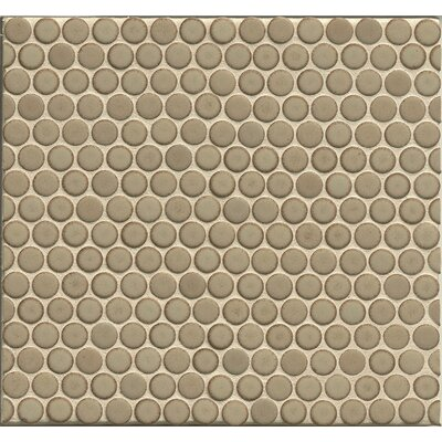 Penny Round Mosaic 12 x 12 Porcelain Tile in Natral