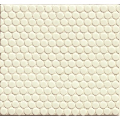Penny Round Mosaic 12 x 12 Porcelain Tile in White Matte