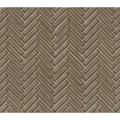 Herringbone Mosaic 11 x 12.25 Porcelain Tile in Gray