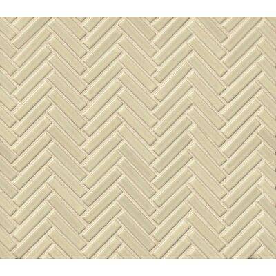 Herringbone Mosaic 11 x 12.25 Porcelain Tile in White