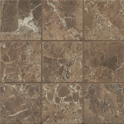 4 x 4 Marble Field Tile in Dark Java