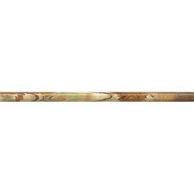Onyx Cane 3/4 x 12 Marble Polished Tile in Seawater