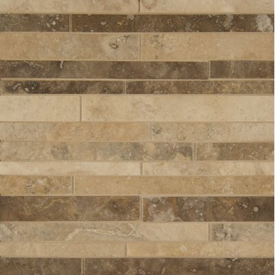 Sized Travertine Mosaic Tile in Tan