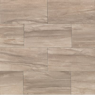 Pallas 20 x 40 Porcelain Field Tile in Cinder