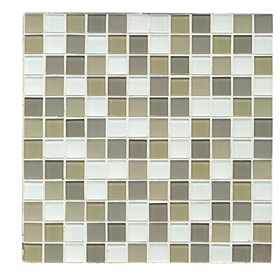 Shoreline 1 x 1 Glass Mosaic Tile in Traverse