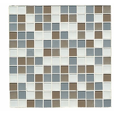 Shoreline 1 x 1 Glass Mosaic Tile in Laguna