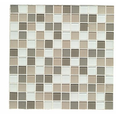 Shoreline 1 x 1 Glass Mosaic Tile in Morro