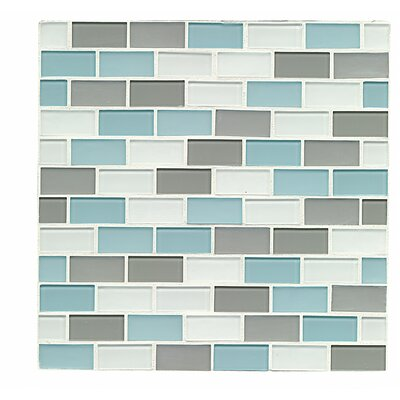 Shoreline 0.94 x 1.88 Glass Mosaic Tile in Clearwater