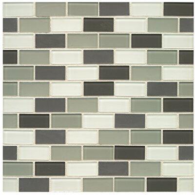 Shoreline 0.94 x 1.88 Glass Mosaic Tile in Cannon