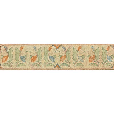 Harvest 14 x 3 Tira Versilia Hand Painted Liner Tile in Autumn