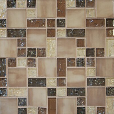Crinkle Random Sized Glass Mosaic Tile in Sand