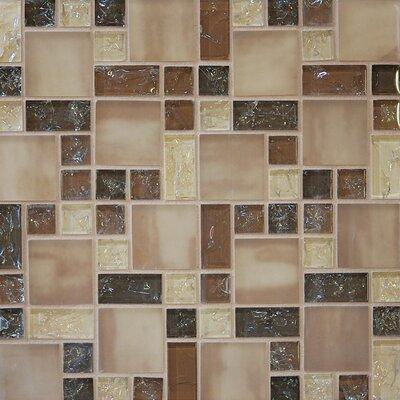Crinkle Random Sized Glass Mosaic Tile in Sand