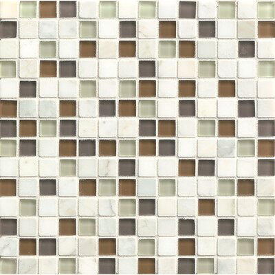 Concord 0.75 x 0.75 Stone and Glass MosaicTile in Peace