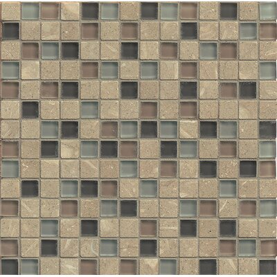 Concord 0.75 x 0.75 Stone and Glass MosaicTile in Chime