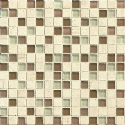 Concord 0.75 x 0.75 Stone and Glass Mosaic Tile in Tranquility