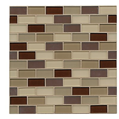 Harmony 1 x 1.88 Glass Mosaic Tile in Accord