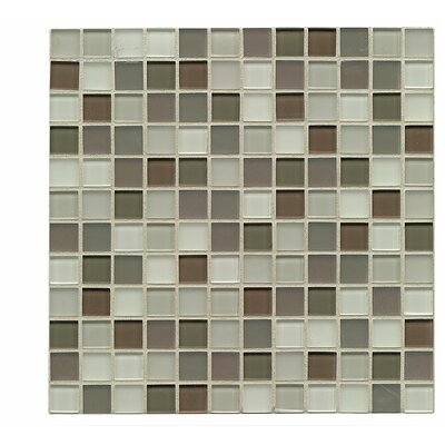 Harmony 1 x 1 Glass Mosaic Tile in Balance