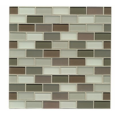 Harmony 1 x 1.88 Glass Mosaic Tile in Balance