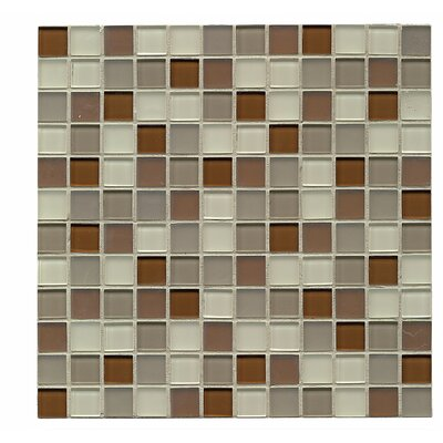 Harmony 1 x 1 Glass Mosaic Tile in Symetry