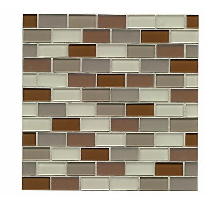 Harmony 1 x 1.88 Glass Mosaic Tile in Symetry