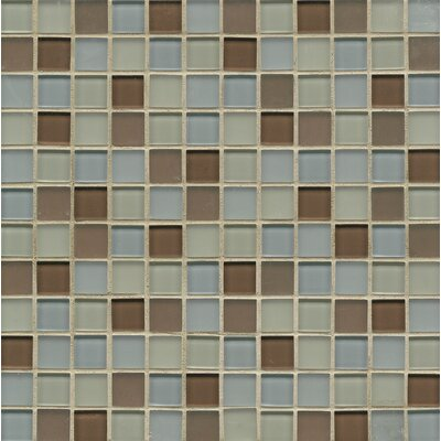 Harmony 0.94 x 0.94 Glass Mosiac Tile in Concert