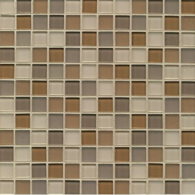 Harmony 0.94 x 0.94 Glass Mosaic Tile in Synthesis