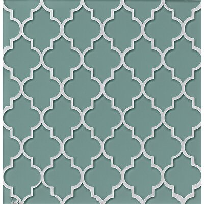 Chloe Glass Mosaic Tile in Frost
