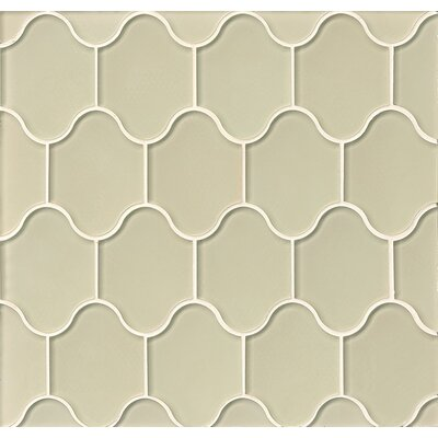 Chloe Glass Mosaic Tile in Cream