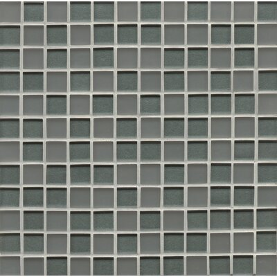 Contempo Glass 0.94 x 0.94 Glass Field Tile in Blue