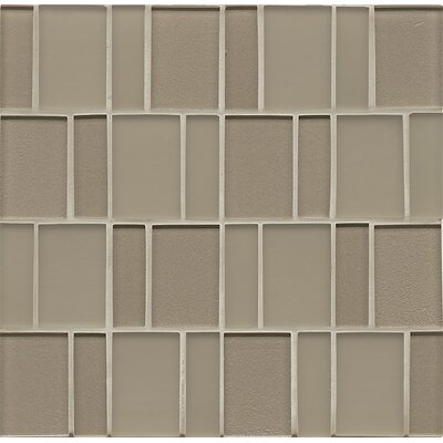 Contempo Glass Sized Glass Mosaic Tile in Gold