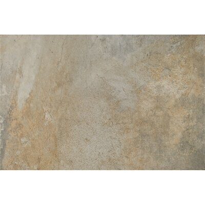 Rome Textured Ink Jet 13 x 20 Porcelain Tile in Taupe