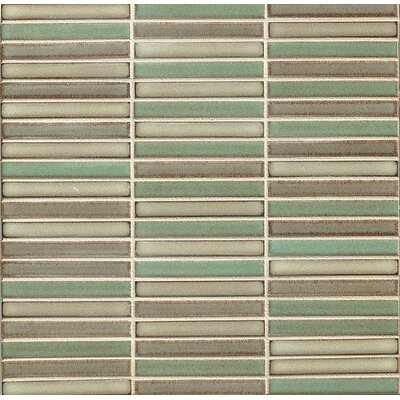 Hinterland 0.5 x 4 Porcelain Mosaic Tile in Cattail Blend