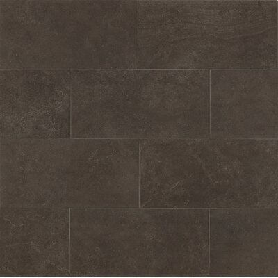 Hudson 18 x 36 Porcelain Field Tile in Noir